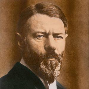 Porträt von Max Weber als Professor in Heidelberg (1918)