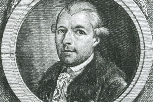 Historischer Druck von Adam Weishaupt, dem Gründer des Illuminatenordens