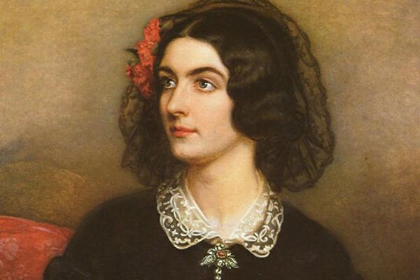 Historisches Gemälde vo Lola Montez