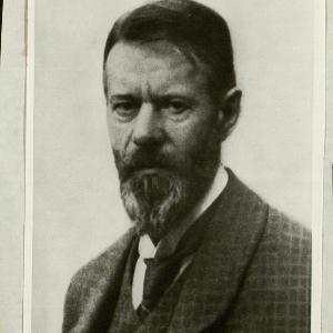 Alte Fotografie von Max Weber