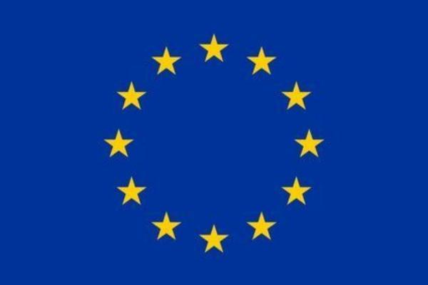 Grafik Europafahne mit den 12 Sternen der Mitgliedsstaaten