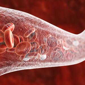 Grafische Darstellung eines Blutgefäßes.