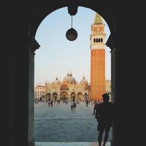 Ein Foto in Venedig.