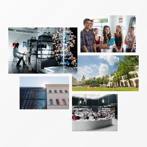 Collage von Bildern der LMU
