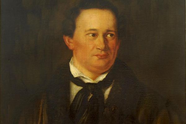"""Anfang des 19. Jahrhunderts wird die Amtsbezeichnung """"Universitätsnotar"""" durch den Titel """"Universitätssekretär"""" ersetzt: Ausschnitt aus einem Portraitgemälde, das Dr. Ernst Julius Richter zeigt, der dieses Amt von 1846 bis 1868 an der LMU bekleidete."""