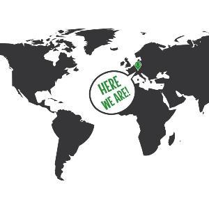 Weltkarte mit eingezeichnetem Standort der LMU