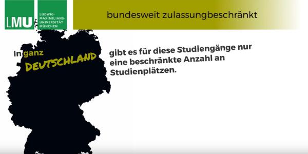 Videostandbild aus einem Video über die Zulassung zu bundesweit zulassungsbeschränkten Studiengängen