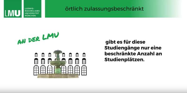 Videostandbild aus einem Video über die Zulassung zu örtlich zulassungsbeschränkten Studiengängen