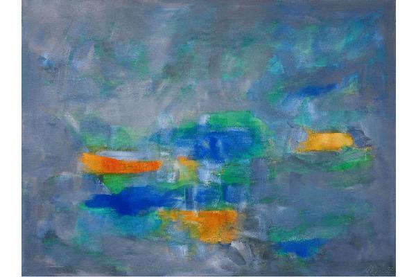 Abstraktes Gemälde von Nikolaus Hipp
