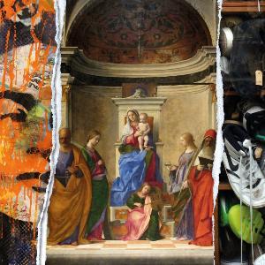 Dreiteilige Bildcollage aus Werken von TEAM BECKER PINTER, Giovanni Bellini und Stephan M. Schuster Fine Art Photography