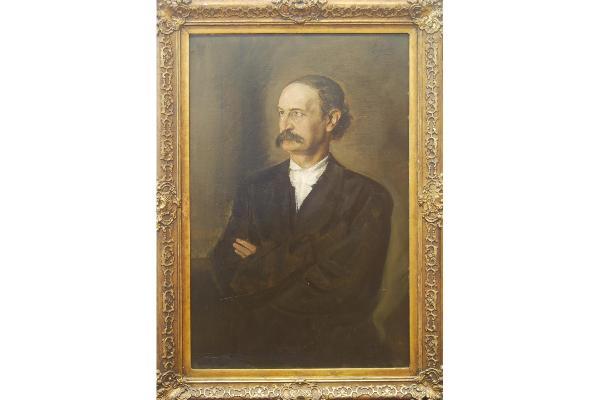 Franz von Lenbach: Professor Michael Bernays, Halbfigur