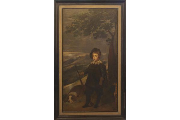 Wilhelm Auberlehn: Portrait des Prinzen Baltasar Carlos im Kindesalter als Jäger