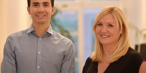 Ein Career-Mentoring-Tandempaar
