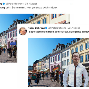 Der fiktive Politiker Peter Behrens