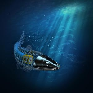 Illustration eines Mikroschwimmers