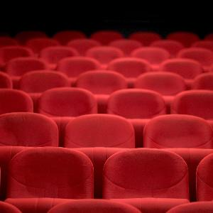 Empty rows of seats in a theater