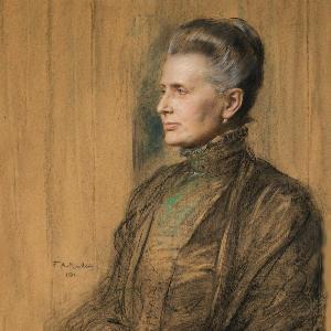 Portrait Prinzessin Therese von Bayern, Friedrich August von Kaulbach, 1911